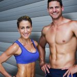 Fit Couple Showing Abs