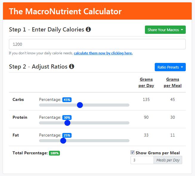 MacroNutrient Calculator